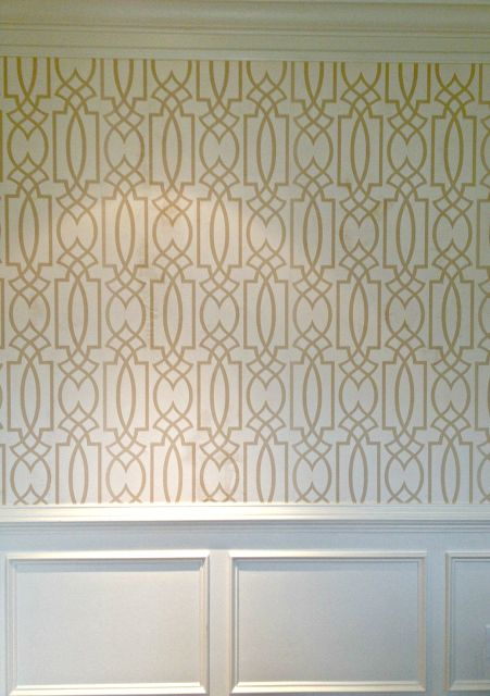 Dining room wallpaper. I am in love! Stephanie Kraus Designs, LLC