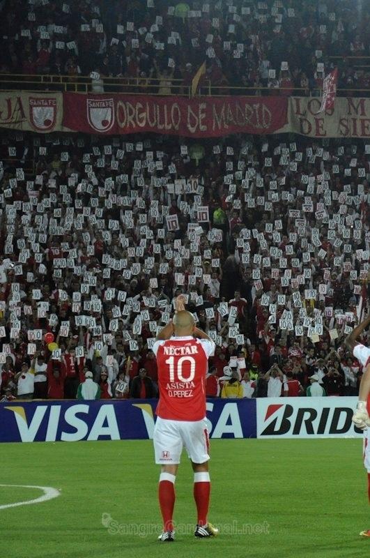 Omar Pérez #10 - Independiente Santa Fe / 2 de abril de 2013. Santa Fe - Cerro Porteño Copa Libertadores 2013
