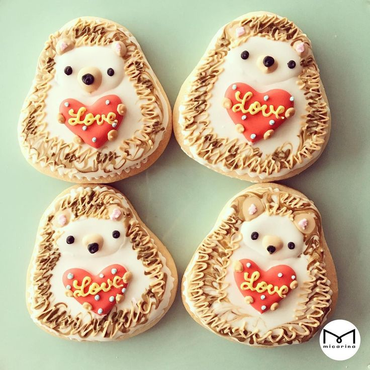 Cute hedgehog cookies