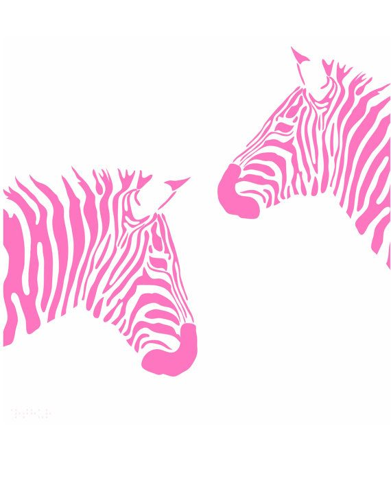 Pink Zebra Print Zebra Print Printable Wall Art by honeytreeprints