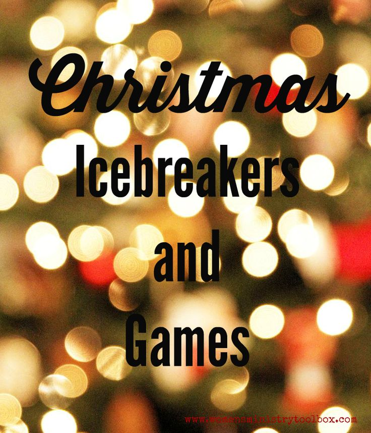 Christmas Icebreakers and Games - Perfect for your Christmas party or Christmas event. From Women's Ministry Toolbox.