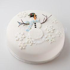 Learn how to create alan dunn's sugar snowman cake