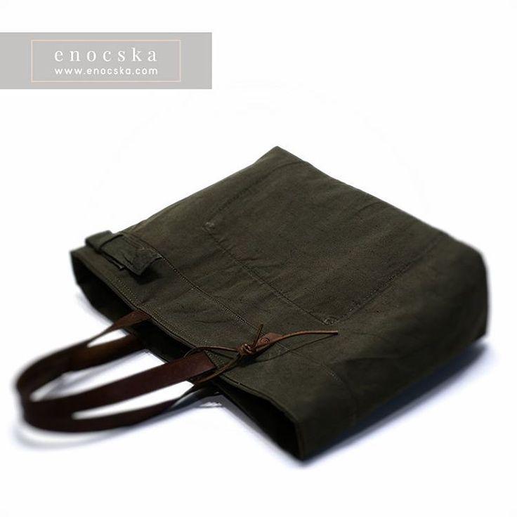 enocska's blog — This tote bag made from Hungarian military duffle...