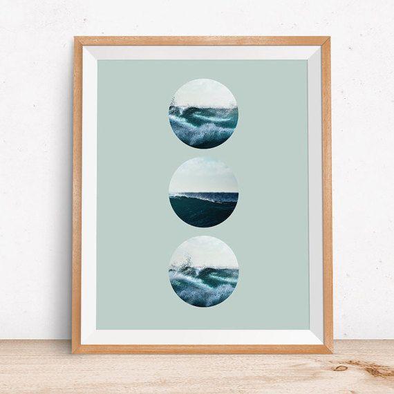 Wave Print Wave Art Surf Photography Ocean Print Sea par OjuDesign
