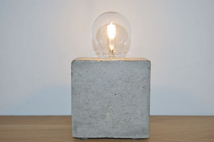 our ciment table lamps