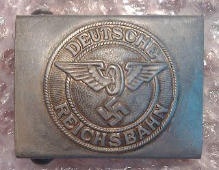 DEUTSCHE REICHSBAHN GERMAN NATIONAL RAILWAY ALUMINUM BELT BUCKLE GERMAN WW2 PRICE $29
