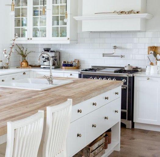 Mejores 26 imágenes de Cocinas Blancas ⭐ White Kitchen en Pinterest ...