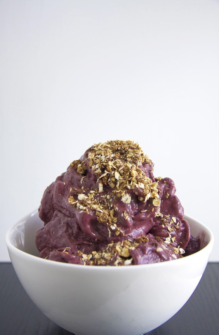 Acai Bowl - 1 cup coconut milk (or almond milk) - 2 tbsp acai berry powder - 1 medium frozen banana - 5 frozen str...