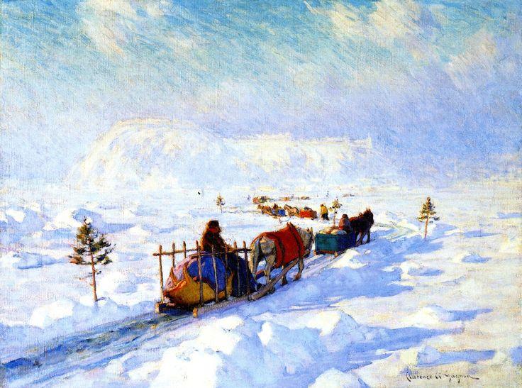 "The Athenaeum - ""The Ice Bridge, Quebec"", Clarence Gagnon, 1920"