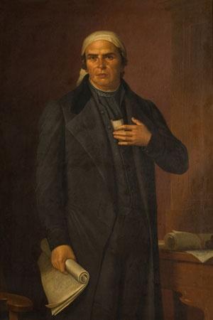 Retrato de José María Morelos y Pavón Francisco de Paula Sánchez 1890 Óleo sobre tela 168 x 120 x 7 cm.  Colección Museo de Historia Mexicana