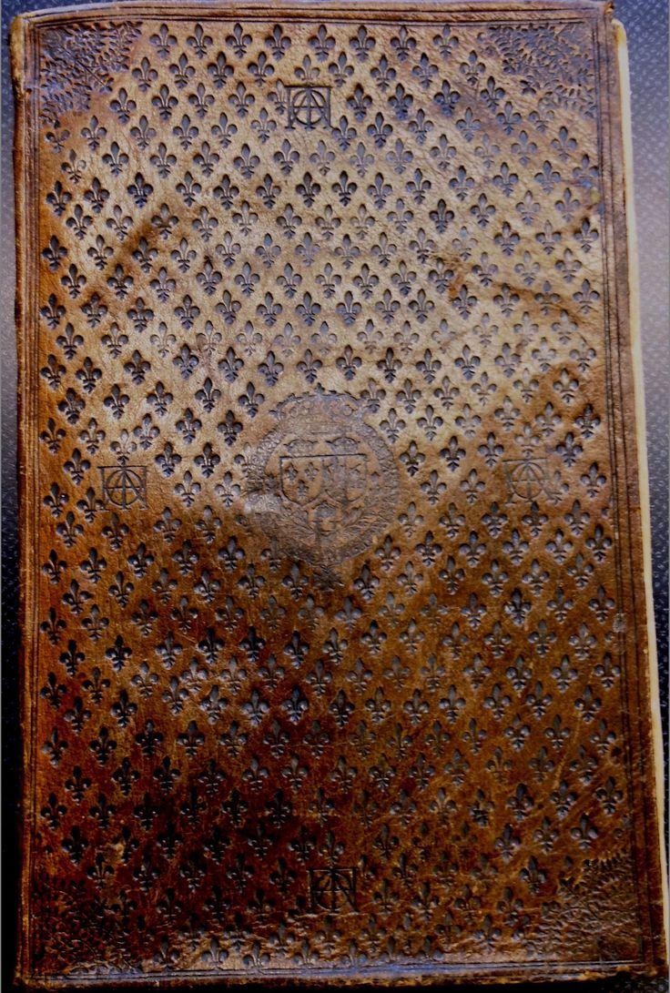 Les six livres de la republique de I. Bodin, soft leather covers embossed with fleurs-de-lys, coats of arms of France, Polland, and Henry III