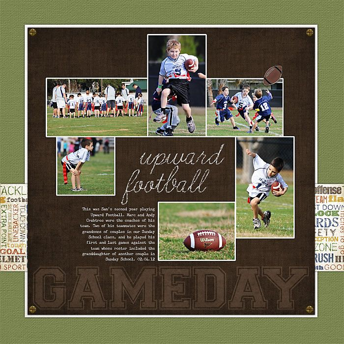 579 Best Scrapbooking Football Sports Images On Pinterest