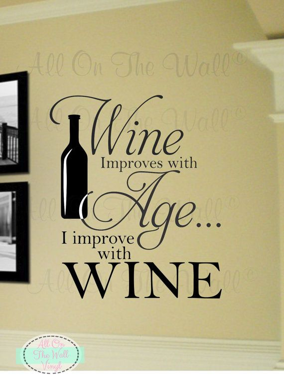 Items Similar To Kitchen Wall Decal Wine Saying Dining Room Home Vinyl Lettering Decor Stickers