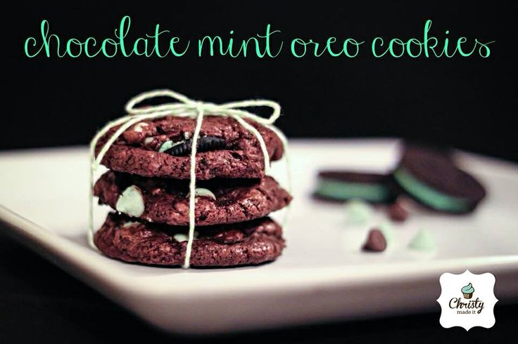 Chocolate Mint Oreo Cookies | pinned it & did it | Pinterest
