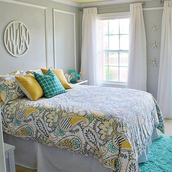 Bedroom Beach Art Bedroom Decorating Colors Ideas Art Decoration For Bedroom Bedroom Yellow Walls: Gorgeous Teen Room From @sandandsisal What's Your Favorite