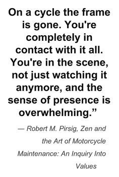 zen and the art of motorcycle maintenance essay 1 as suggested by the book's title, zen and motorcycle maintenance are connected in important ways identify and discuss a few of these connections what is their importance in the book and to humanity in general 2 by the middle of the book, it is understood that phaedrus is the narrator.