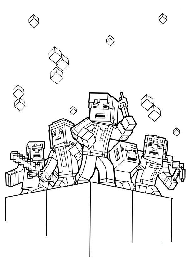 ausmalbilder minecraft-7 | diversos | Pinterest | Minecraft ...