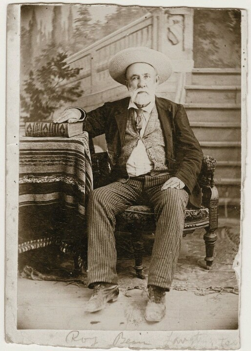 Judge Roy Bean son of Phantly Roy & Anna Henderson Gore Bean. He was a Justice of the Peace & Saloonkeeper.