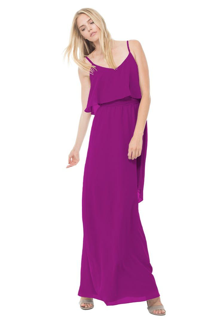 Ceremony By Joanna August | Wear Again Bridesmaid Dresses | Color: Scarlet Begonias | Style: Dani Long | Bohemian Chic at its finest, this dress is simultaneously effortless and ethereal, allowing you to transition from bridesmaid to brunch on a rooftop party seamlessly.