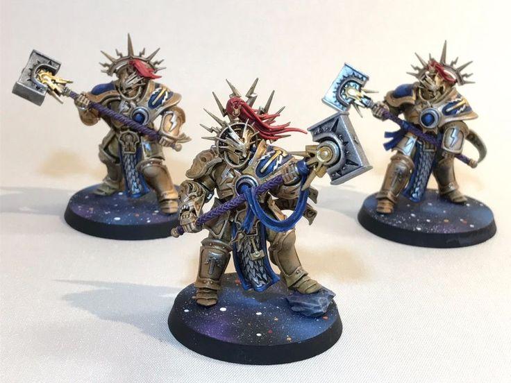 Warhammer Army Grand Alliance Order Stormcast Eternals Retributors x 3 Painted