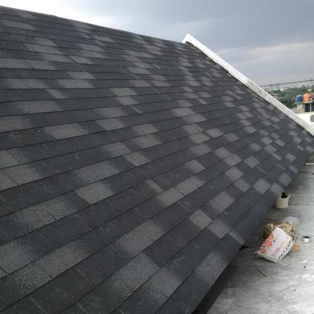 3 Tab Fiberglass Roofing Shingles For Project In Indonesia Door