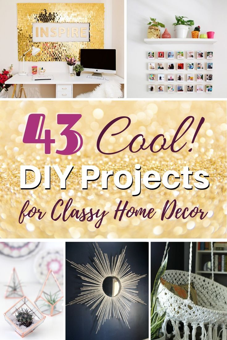 40 Cool Diy Projects That Will Make Your Home Look Classy Cool Diy Projects Handmade Home Decor Wood Home Decor