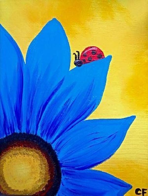 25 unique easy paintings for beginners ideas on pinterest for Easy way to paint flowers