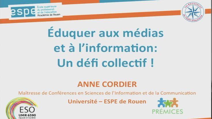 Eduquer aux médias et à l'information :  un défi collectif !