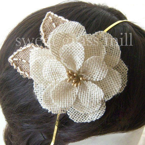 burlap headband
