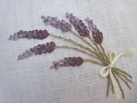 Lavender Linen Sachets 2 Hand Embroidered by twood59
