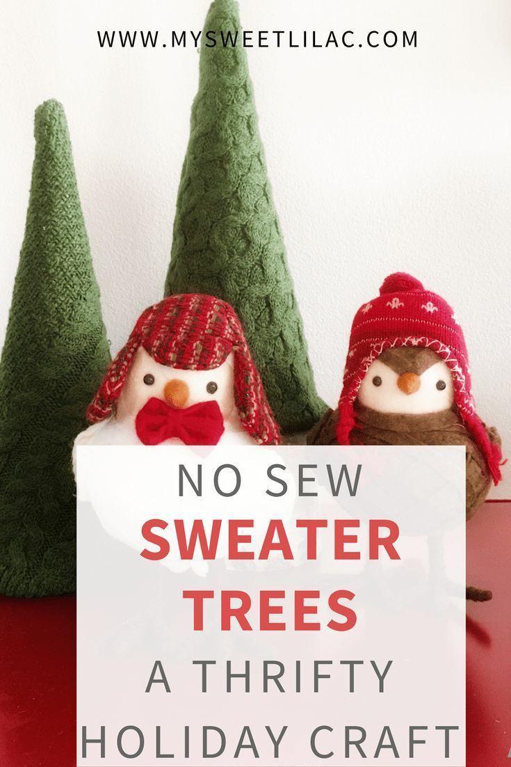 DIY No Sew Sweater Christmas Tree Decor   Crafts   Christmas ...