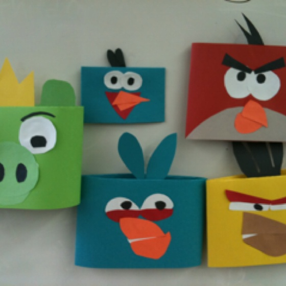 Angry Birds Diy Paper Craft Faces And Stuff Paper Crafts Crafts