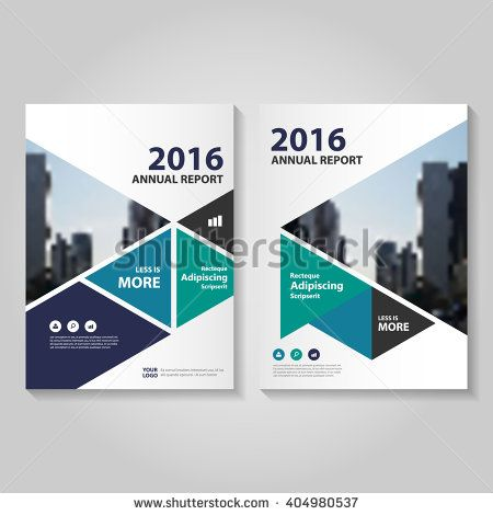 Creative Triangle Blue Purple Green Vector Annual Report Leaflet