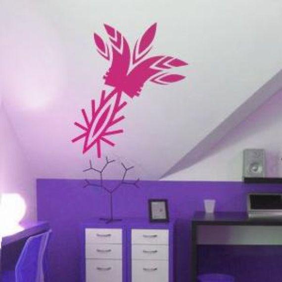 Etno kwiat II folkowa naklejka na ścianę/szablon