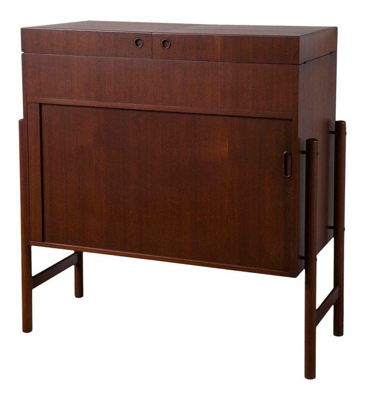 Mogens Kold Scandinavian Modern Teak Dry Bar on DECASO.com