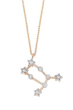 Lunatique Jewelry Gümüş Burç Yıldız Haritası Kolye: Lidyana.com