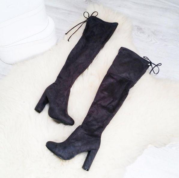 BOOTS OVER THE KNEE GREY I MONASHE.PL - Sklep online z modna odzieza.