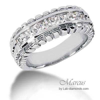 Marcus Lab Created Wedding Ring Bling 1786 81