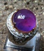 cincin batu kecubung ungu