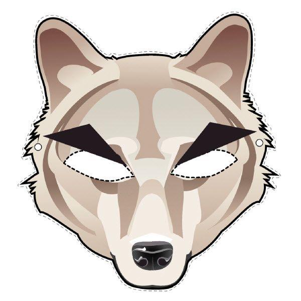 Télécharger un masque de loup en PDF