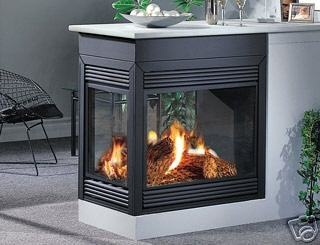Napoleon direct vent gas fireplace bgd40 peninsula open on for Open sided fireplace