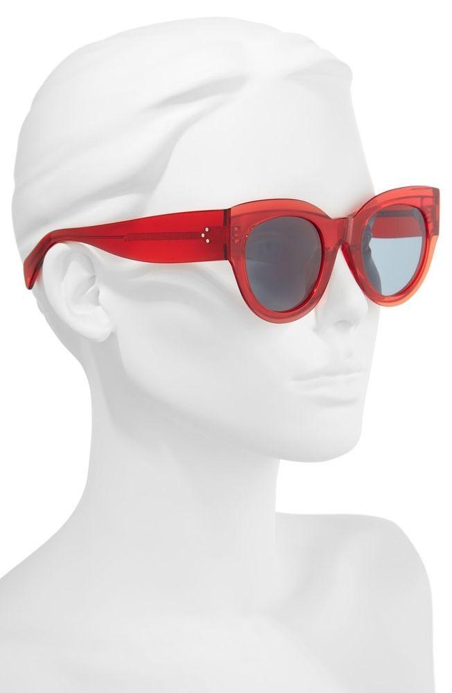 bd1eb754dea5 Celine Sunglasses CL40008I Cat-eye Red x Neiman Marcus MSRP  500  fashion   clothing  shoes  accessories  womensaccessories   sunglassessunglassesaccessories ...