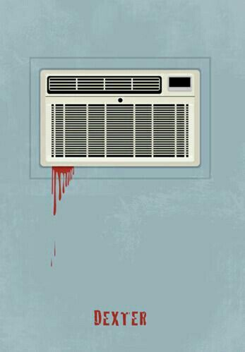 Dexter (2006–2013) ~ Minimal TV Series Poster (artist unknown) #amusementphile