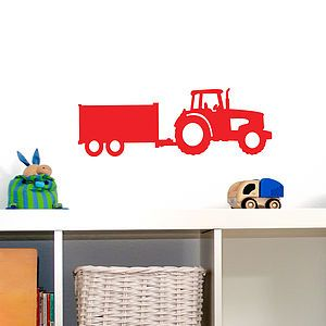 Tractor And Trailer Wall Vinyl Sticker