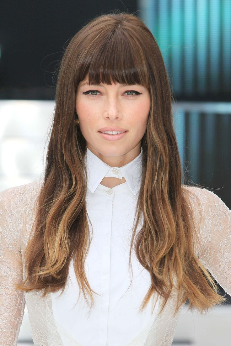 """Rich, chocolate brown hair with golden strands woven in toward the ends give a fresh twist on brunette hair color for fall.Look for terms like """"rich, chocolate brown with golden tones"""" on at-home box kits. The golden tones won't show up as much as they do on Jessica (hers is professionally colored), but your hair <em>will</em> look multi-dimensional. -Cosmopolitan.com"""