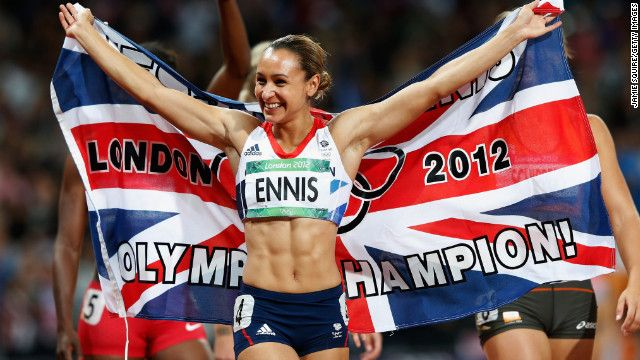 Jessica Ennis beat her closest opponent in the 2012 Olympic heptathlon event by more than 300 points. Ennis earned