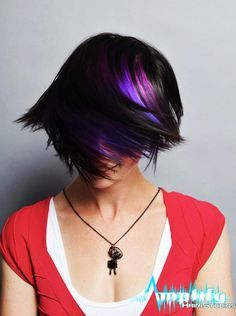 Image result for modern shag haircut with purple