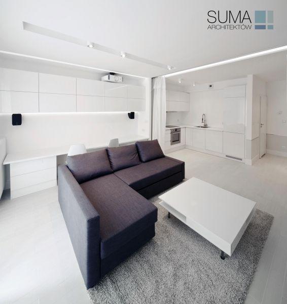 Minimalistyczny apartament w Krakowie, projekt: SUMA ARCHITEKTÓW