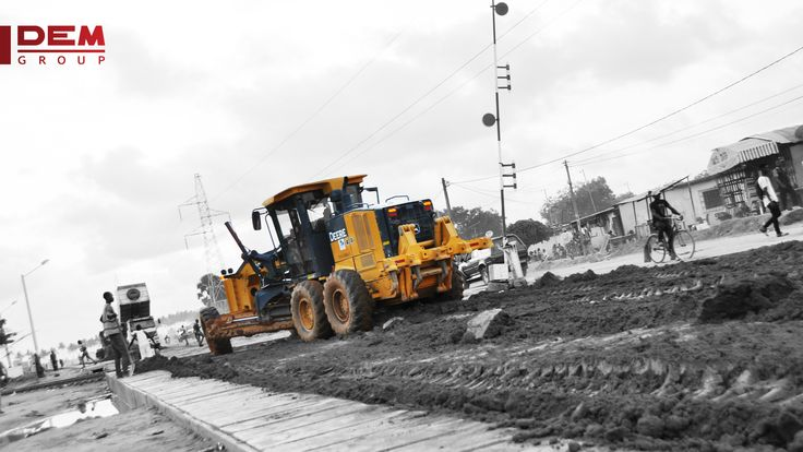 Credits : Photo & Design (William Bressand)  John Deere Construction Motor Grader in Ivory Coast.  www.dem-group.com