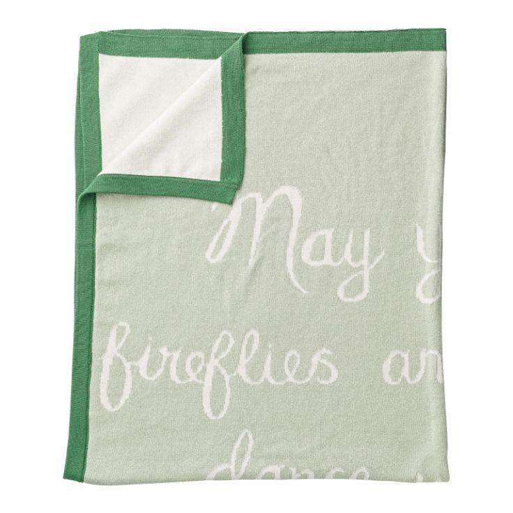 Baby-Strickdecke mint/grün 80x100cm